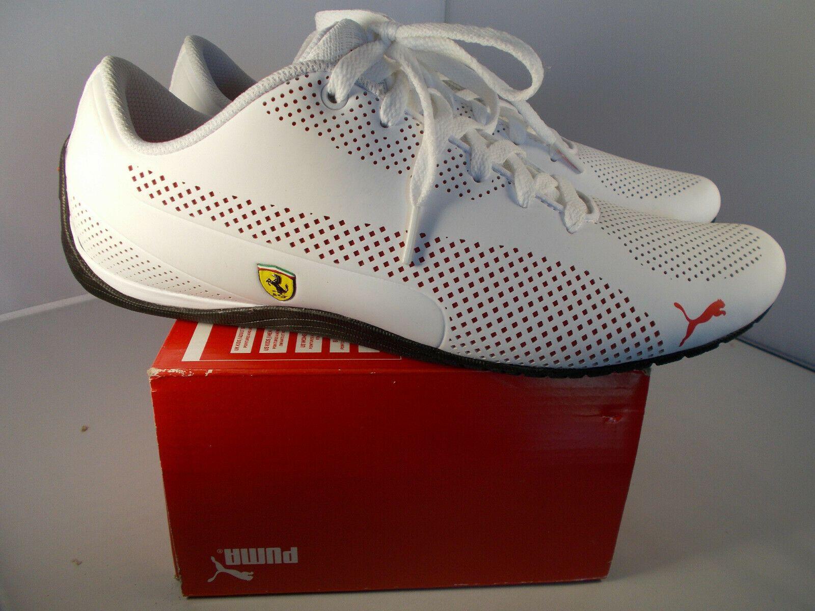 5261bc4be4 Puma Ferrari SF Drift Cat 5 Ultra Puma White Shoes Men's Size 12 New ...