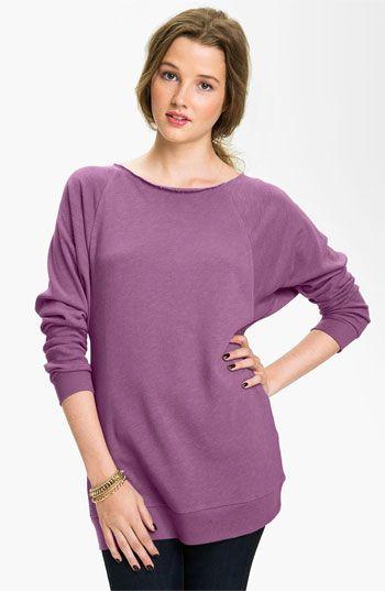 Rubbish® Wide Neck Sweatshirt (Juniors) | Nordstrom