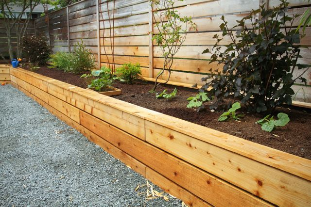 raised garden bed w cedar siding Gotta clean up my raised beds
