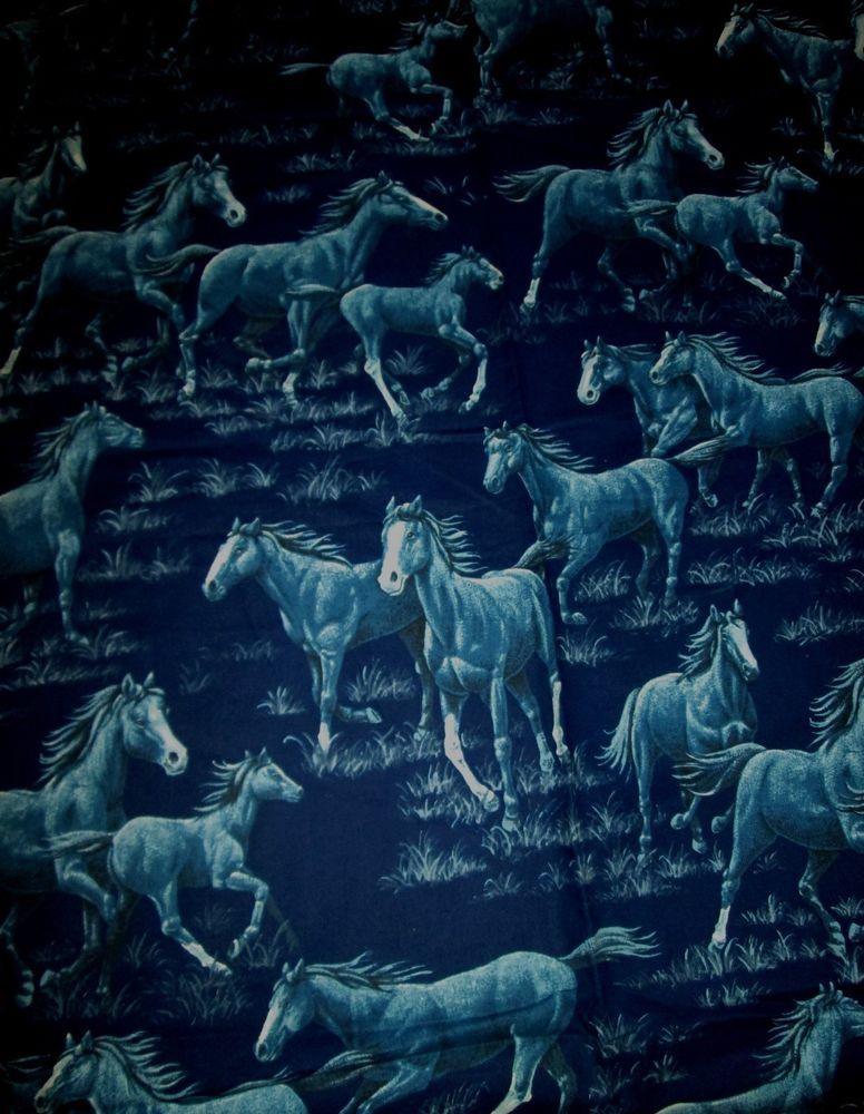 Details About By The Yard Springs Industries Wild Horse Print Fabric