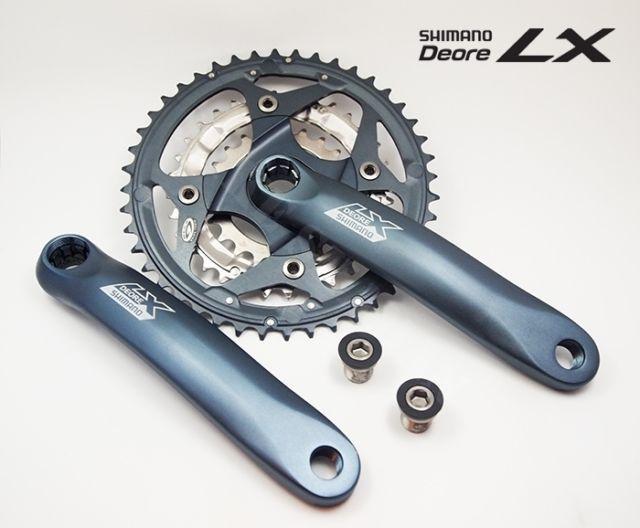 Shimano Deore Lx Fc M571 9 Speed Mtb Triple Crankset With