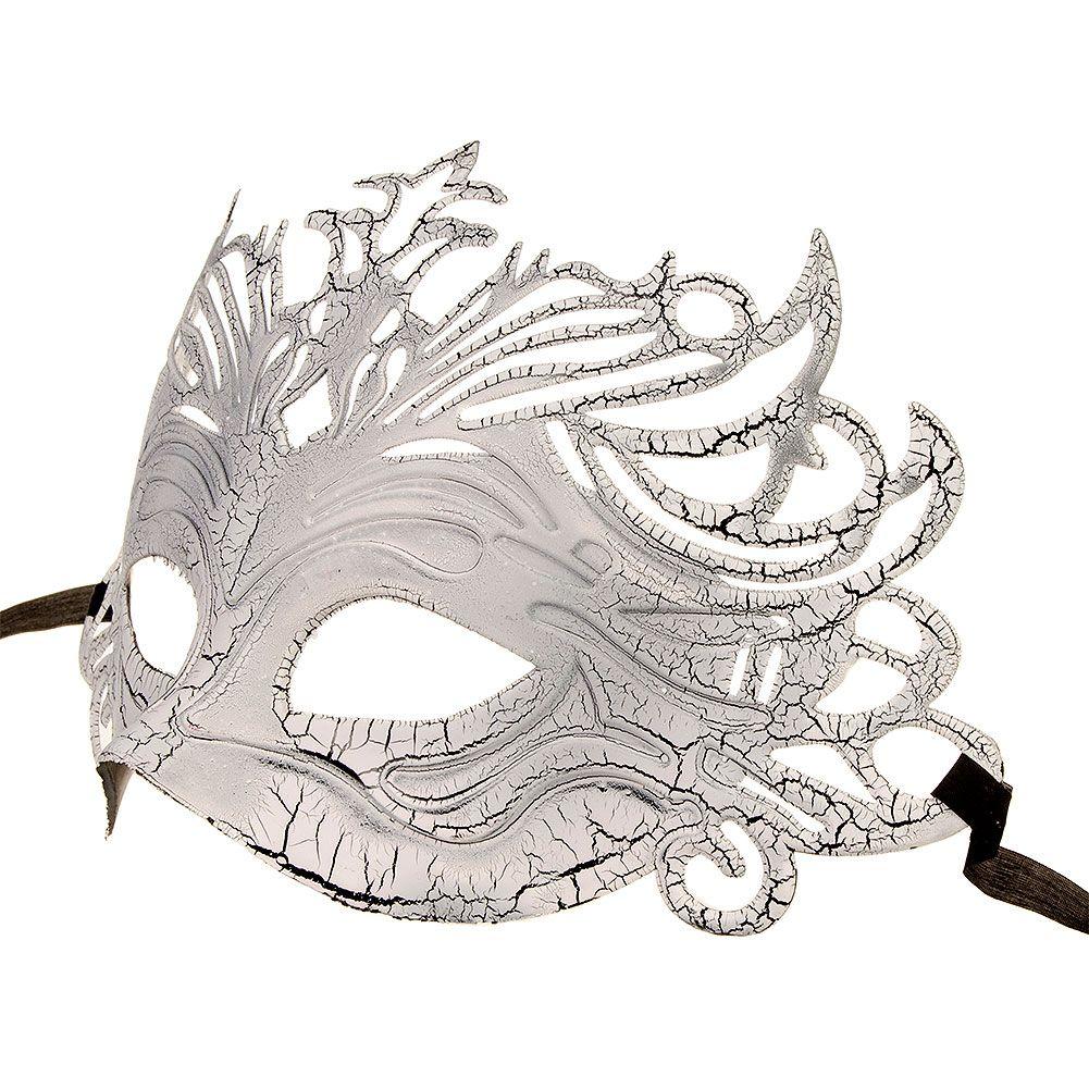 Blue Banana Venetian Mask (White)