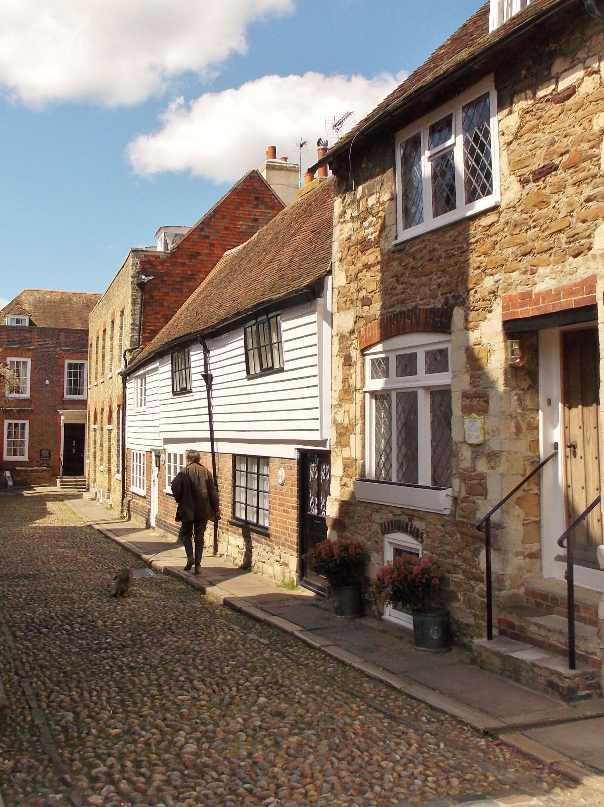Looking from Church Square to Lamb House straight ahead, as seen in the Mapp & Lucia series and one time home of author Henry James. By B Lowe. Rye, East Sussex, England