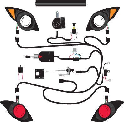 yamaha golf cart headlight wiring diagram: golf cart light rh:pinterest com,