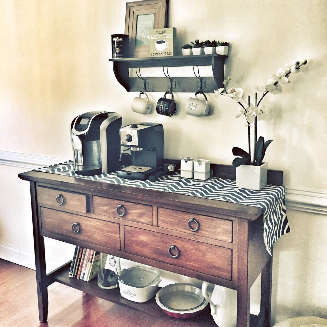 Coffee station out of repurposed items! | Coffee Bar Ideas ...