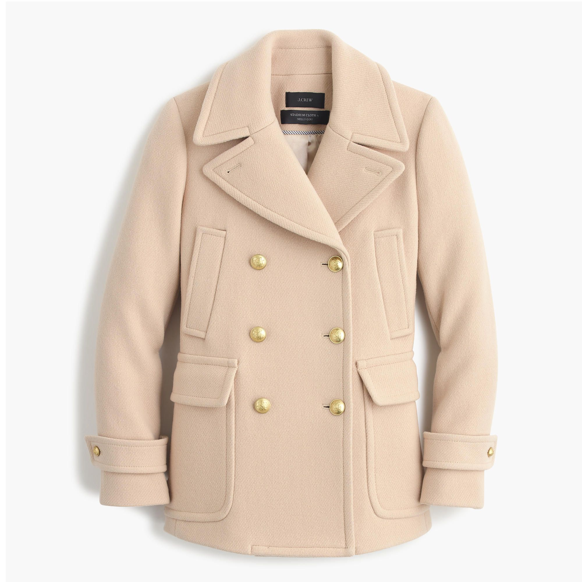 Stadium-cloth majesty peacoat : wool in dusty ginger   J.Crew