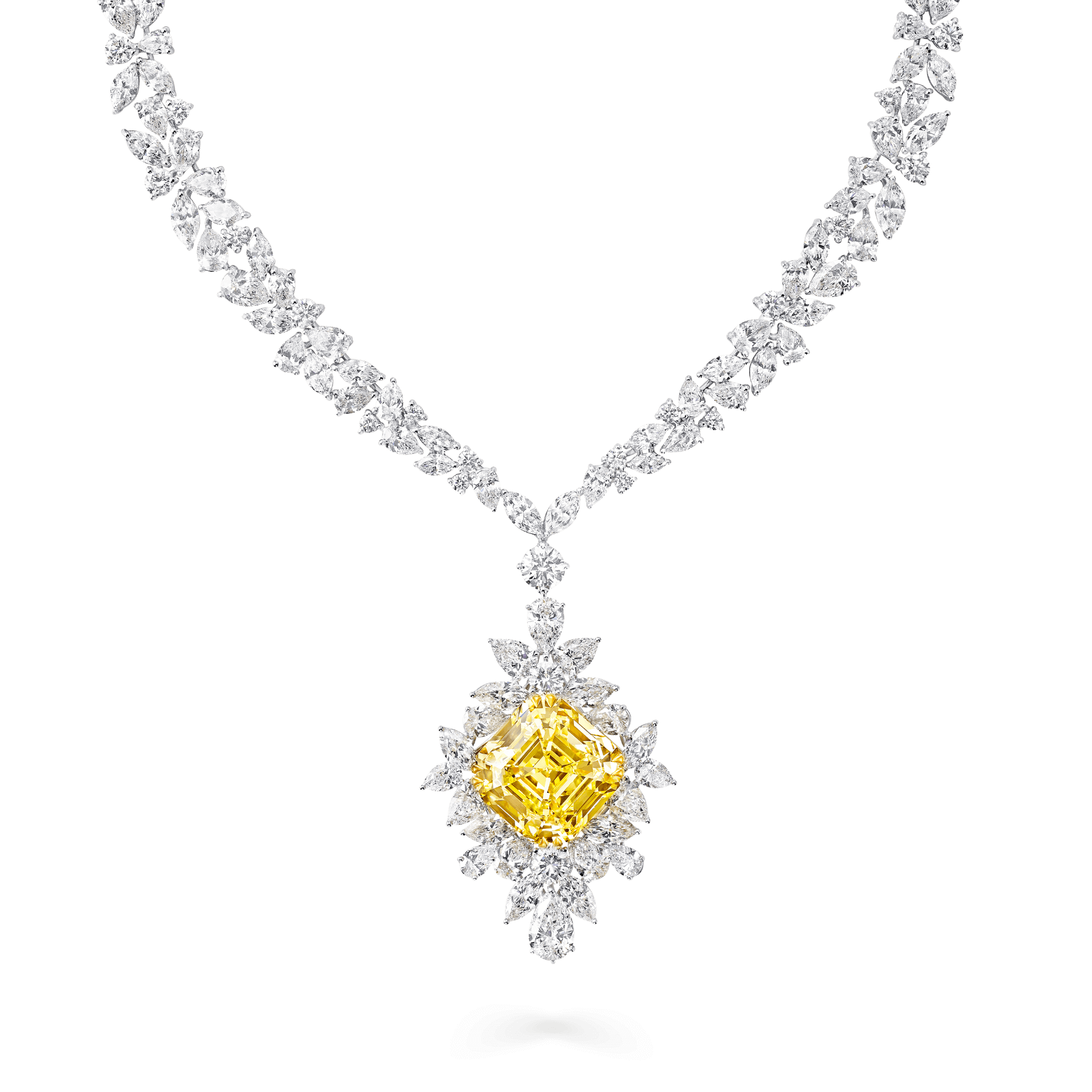 Yellow Diamond Jewellery One Of A Kind High Jewellery Graff Yellow Diamond Jewelry Yellow Diamond Earring White Diamond Necklace