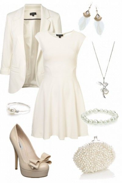 "Winning Event outfit for ""White Hot"" styled by Rebekah #fashion #style"