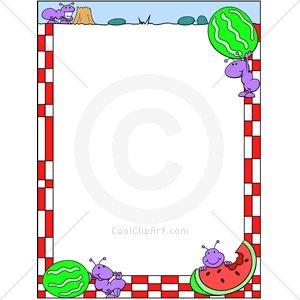 free clip art picnic borders coolclipart com clip art for rh pinterest com clip art borders flowers clipart border images