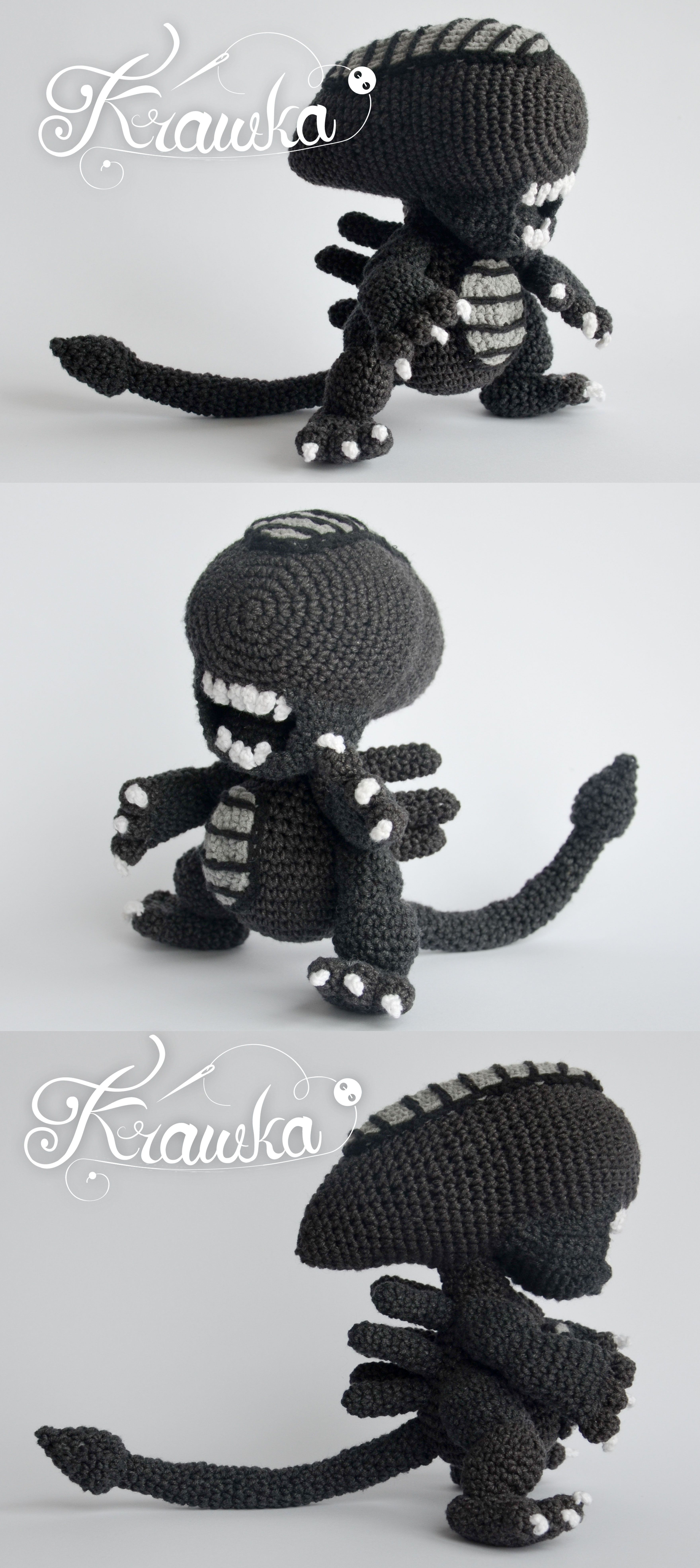 Alien xenomorph crochet pattern by Krawka - best geek crochet ...