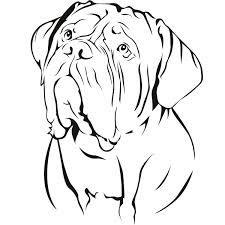 Resultado de imagen para dogue de bordeaux Pittura Stencil 8c584a7c9d97