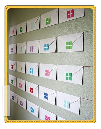How to make an envelope advent calendar for Christmas!   www