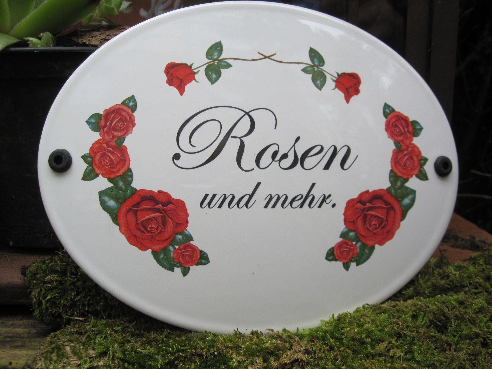 exklusives rosenschild mit aufw ndigem dekor und nostalgischer beschriftung als edler. Black Bedroom Furniture Sets. Home Design Ideas