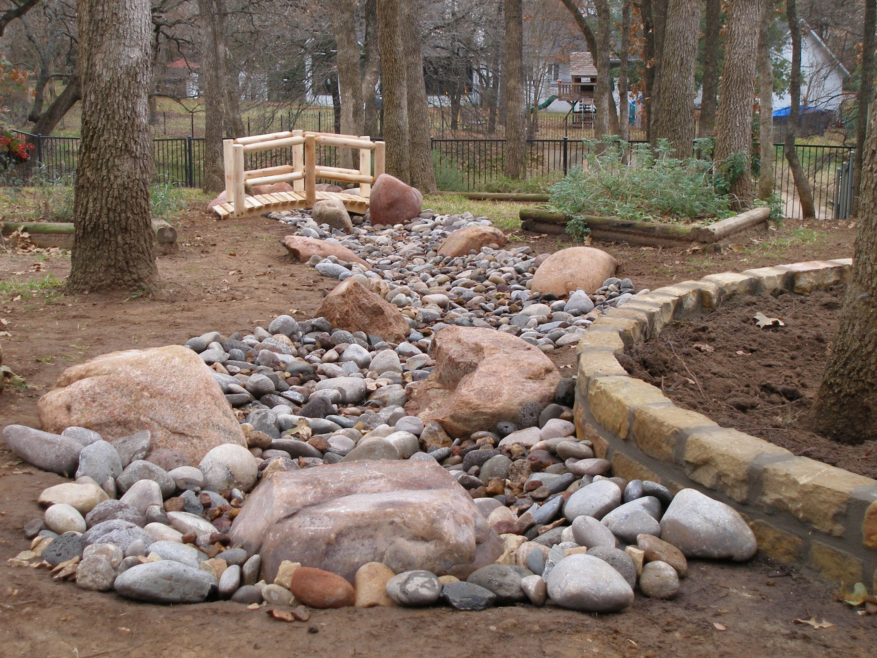 dry river beds Google Search River rock landscaping