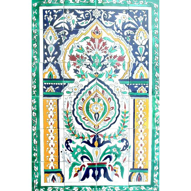 liEnrich your home decor with a mosaic Moroccan Arch Gate ceramic