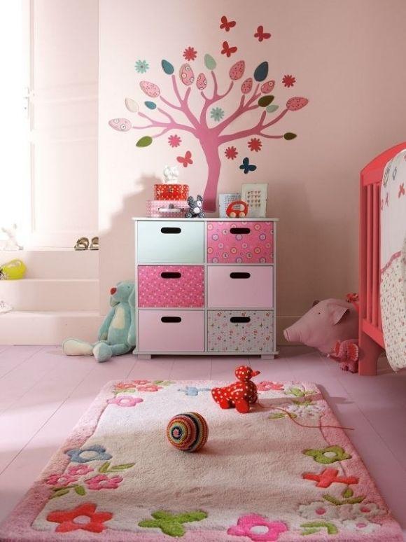 Wandtattoo Kinderzimmer Für Mädchen Wände Rosa Streichen