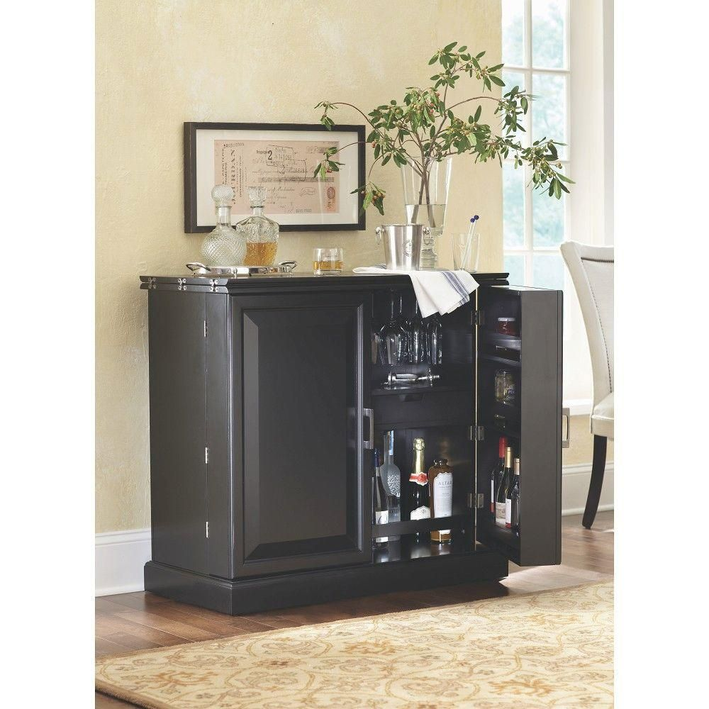 Barschrank Depot Home Decorators Collection Jamison Black Bar With Expandable
