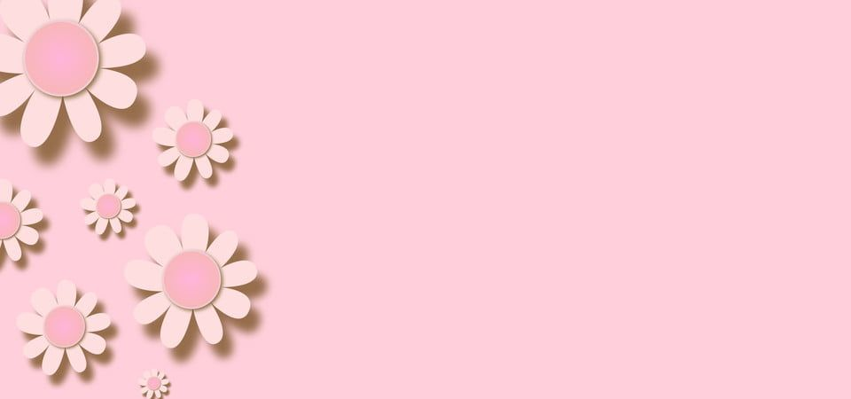Pink Pastel Background With Paper Floral Cutouts Pink Floral Wallpaper Painted Floral Wreath Pastel Background