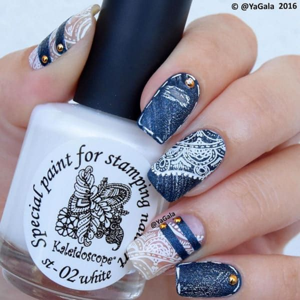 Nail It Daily Nail Ideas For Every Day Of The Week Nail It Lace Nail Art Wedding Nails Design Wedding Nail Art Design