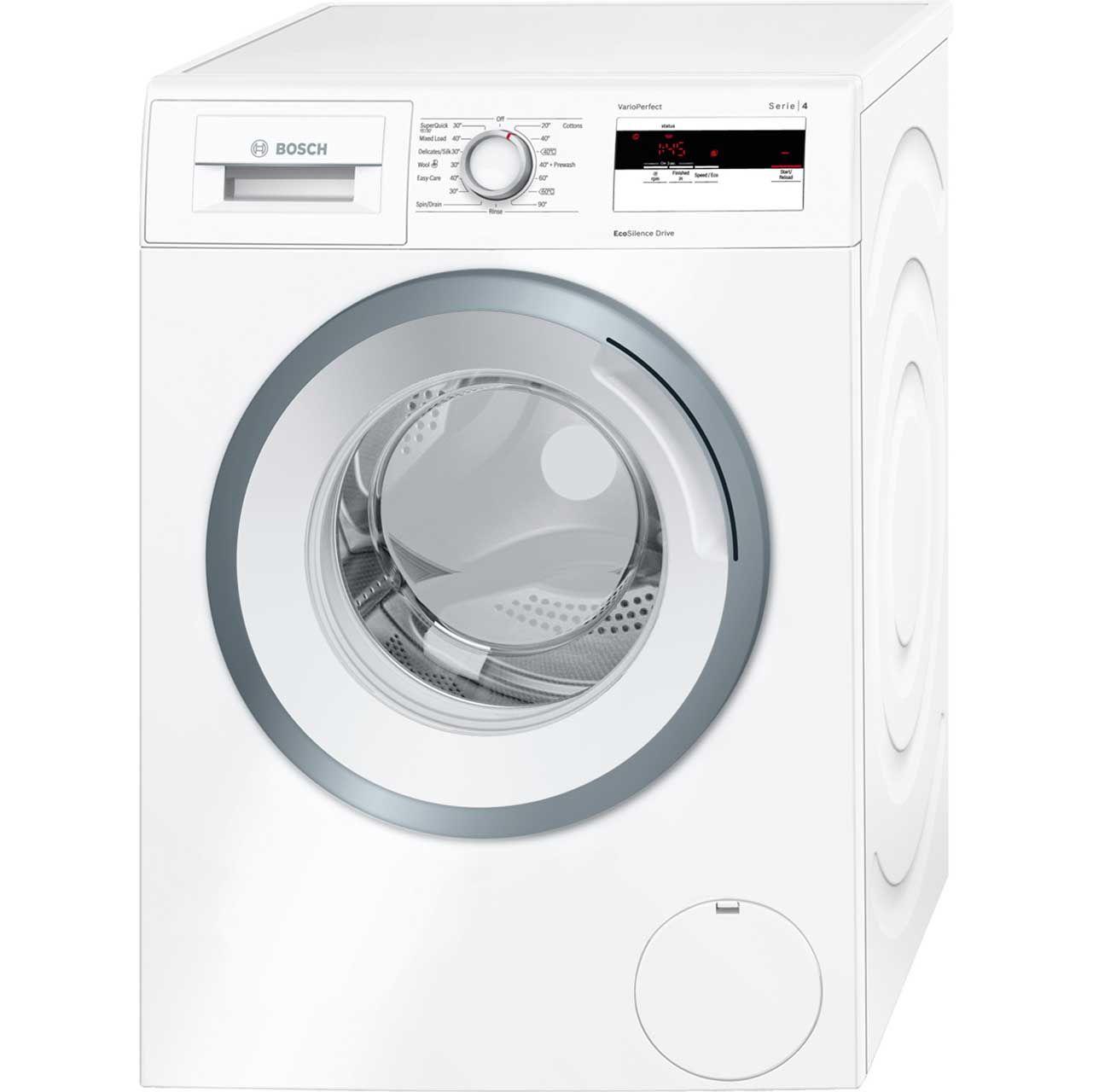 Bosch Serie 4 Wan28050gb 7kg Washing Machine With 1400 Rpm White A Rated Automatic Washing Machine Washing Machine Bosch Washing Machine