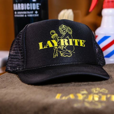 4d3af1b51 Black Layrite Mesh Trucker Hat | Layrite Deluxe Pomade | Barber ...