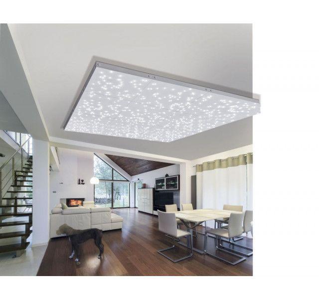 Plafonnier CIEL ETOILé LED 30x30cm deux modes d éclairages avec