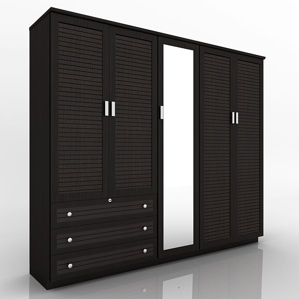Incroyable 5 DOOR WOODEN DESIGNER WARDROBE