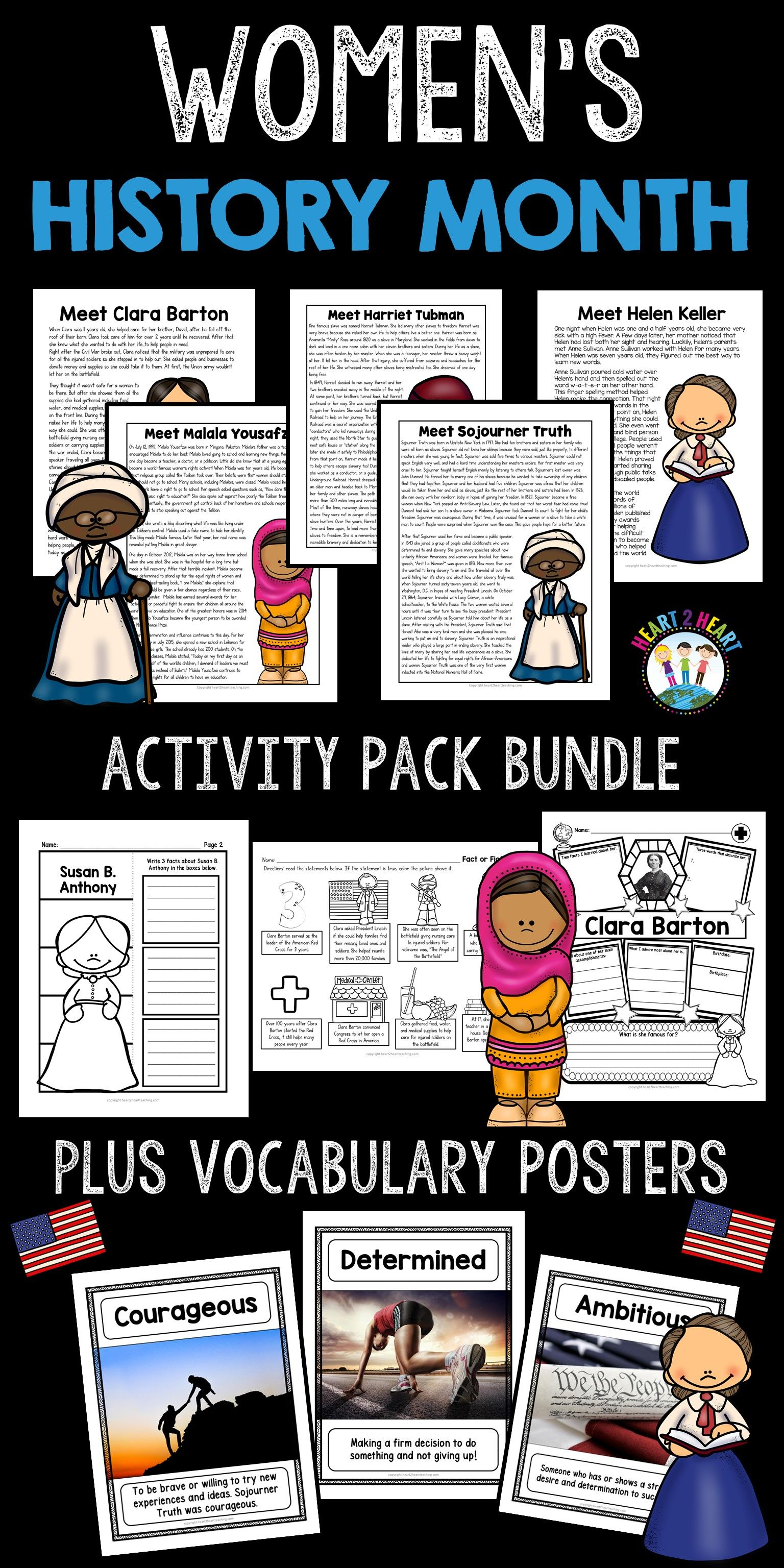 Women S History Month Famous Women In History Bundle With