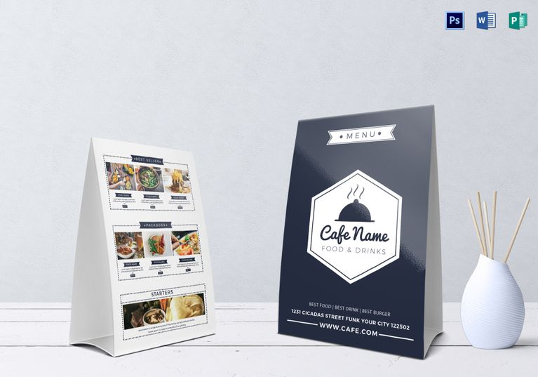 Cafe Menu Table Tent Menu Template designs Pinterest Cafe - Cafe Menu Template