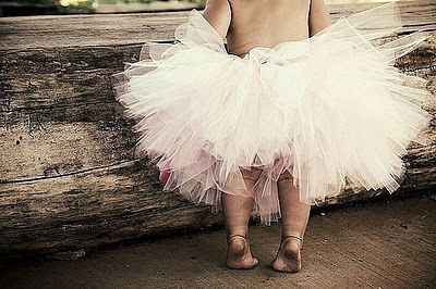 Love the rustic look with the tutu