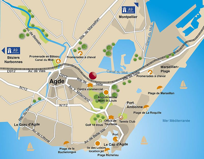Map AgdeCap dAgde Avignon Montpellier Provence Pinterest