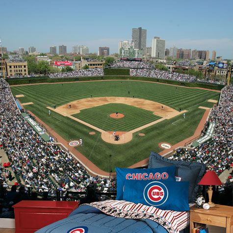 Baseball Stadium Wallpaper Murals Shown As 8x12 Feet Wrigley Field Photo Mural