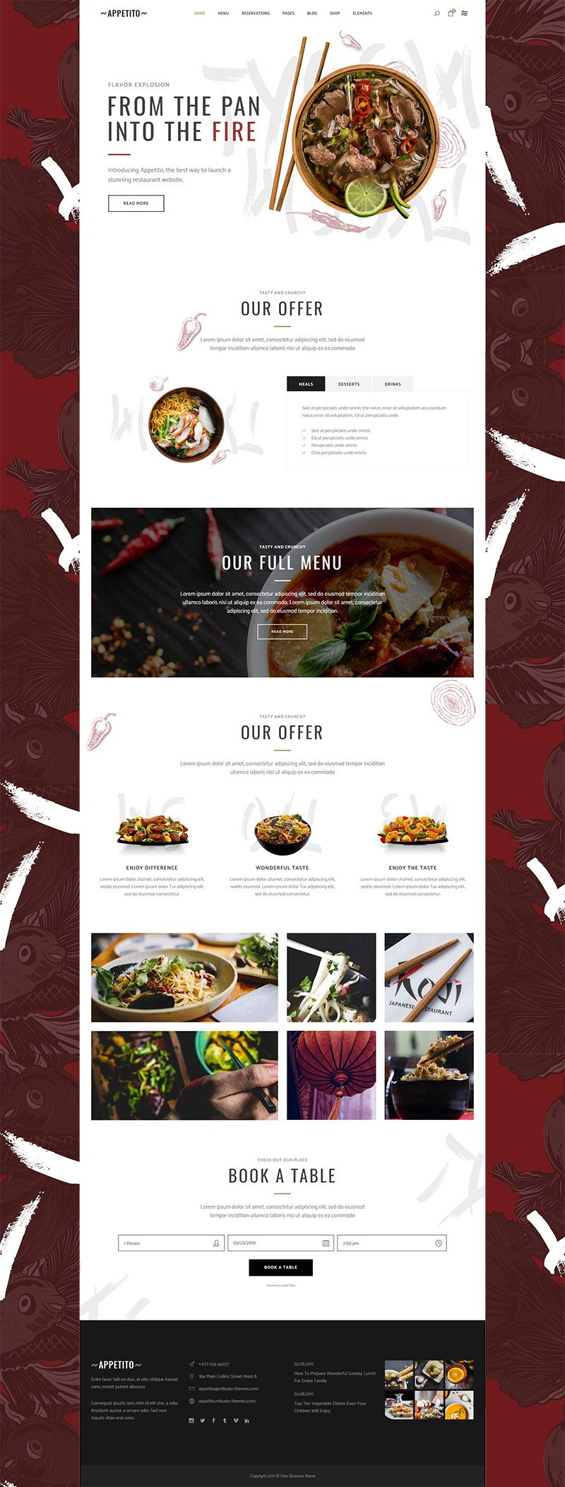 Asian Food Home In 2020 Restaurant Website Design Restaurant Website Design Inspiration Food Website Design