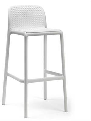Kirra Stackable Resin Outdoor Bar Stool 76cm In White Au 169