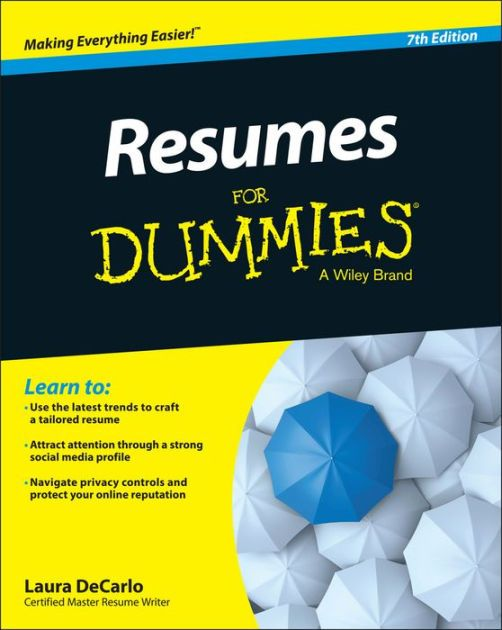 Resumes For Dummies Books - resumes for dummies