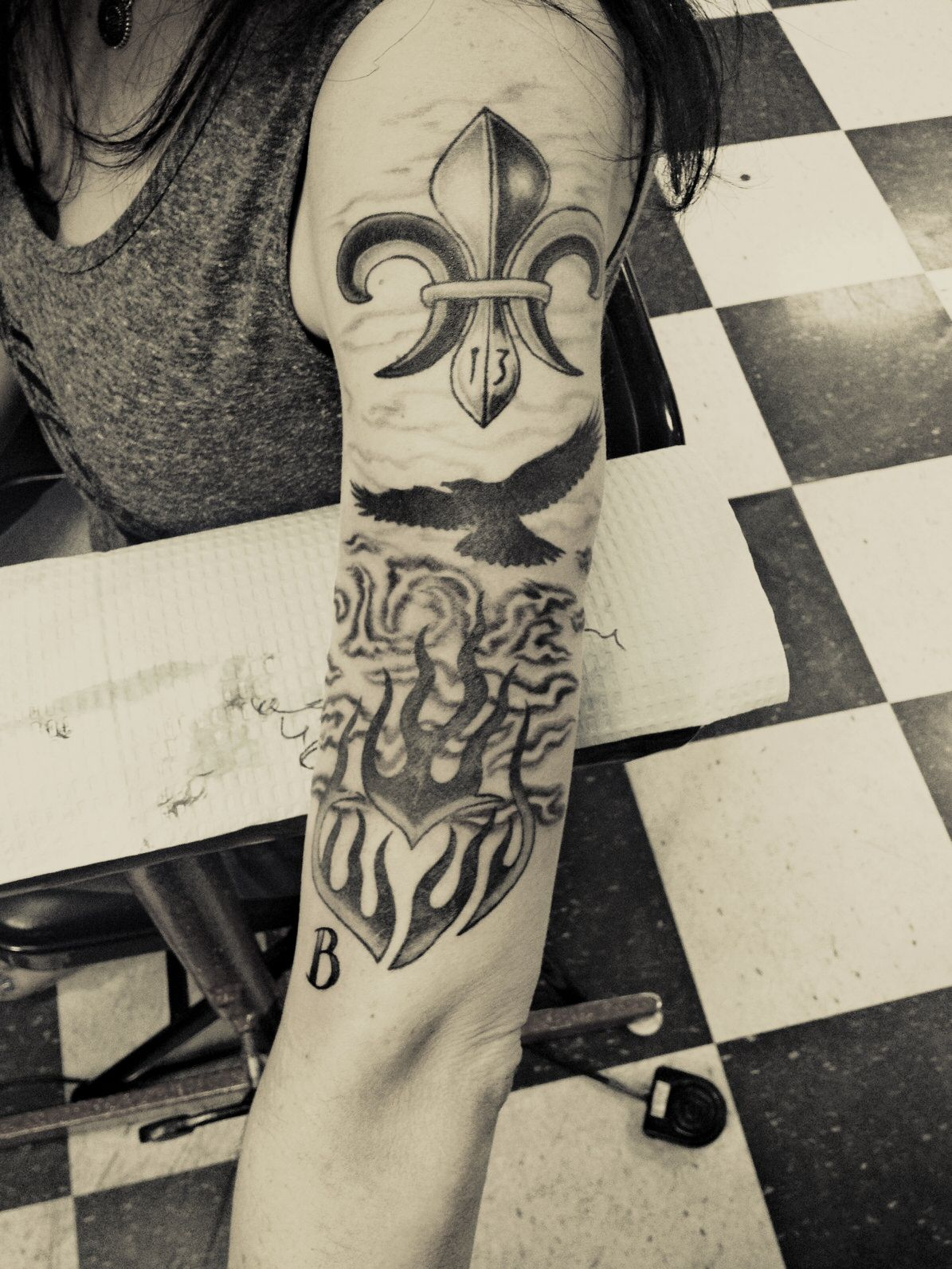 20 hours on my left arm telling the story of the past year of my life