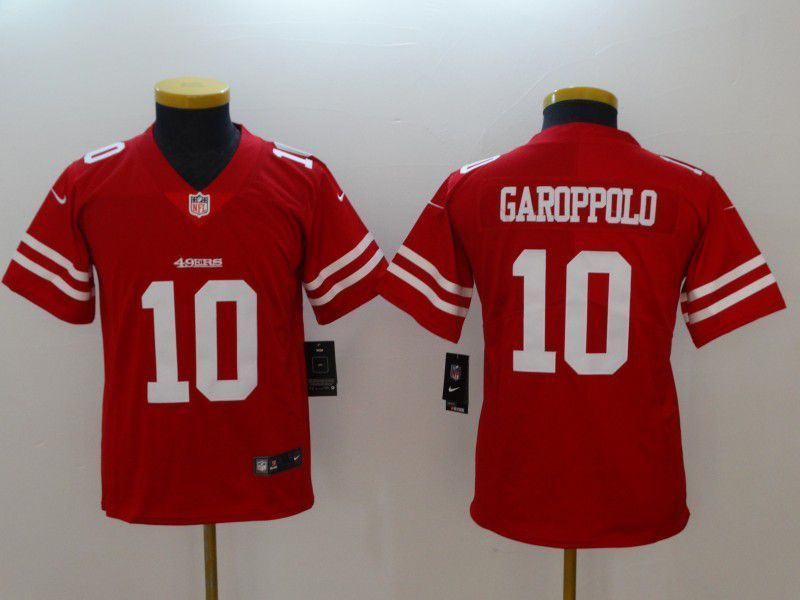 dd96a2e0d Youth San Francisco 49ers 10 Garoppolo Red New Nike NFL Jerseys ...