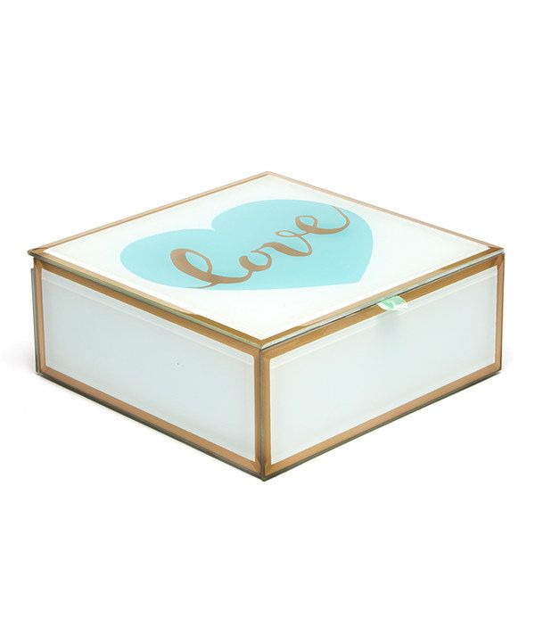Look At This Tri Coastal Design Golden Love Storage Box On #zulily Today!
