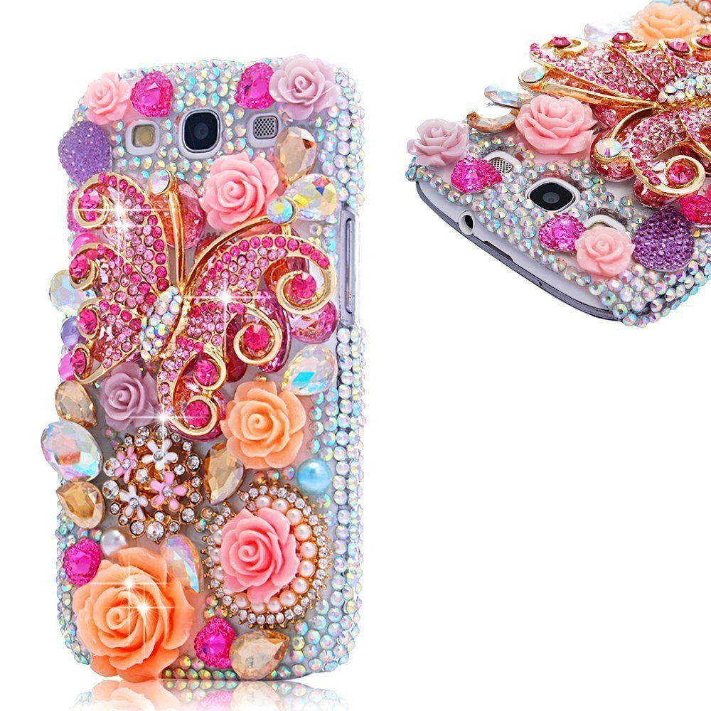 EVTECH(TM) 3D Handmade Crystal Pink Butterfly Flower Pearl Rhinestone Heart Diamond Bling Cover Hard Case for (Samsung Galaxy S3 I9300 T-Mobile T999 L710 Sprint/T999 T-Mobile/i747 AT&T/i535 Verizon) -  http://www.amazon.com/gp/product/B00HXU4MJ0?ie=UTF8&camp=1789&creativeASIN=B00HXU4MJ0&linkCode=xm2&tag=casuarioscom-20