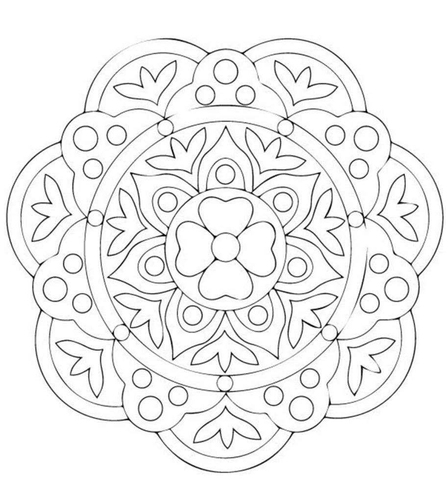 Free Printable Rangoli Coloring Pages For Your Little One Rangoli Colours Coloring Pages Mandala Coloring Pages