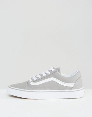 Vans Classic Old Skool Sneakers In Gray | Womens vans