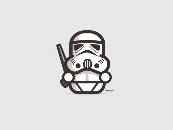 Adorable Star Wars illustrations -