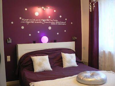 dormitorio paredes moradas Para la casa \/ Home Pinterest - schlafzimmer beige lila