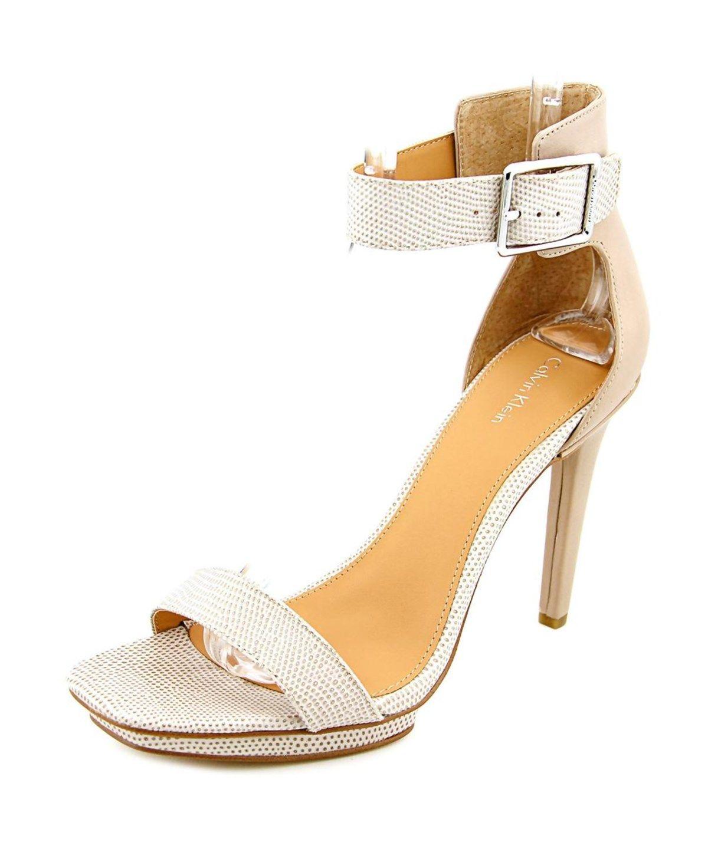 f3b84ee7c55 CALVIN KLEIN Calvin Klein Vable Open Toe Leather Platform Sandal .   calvinklein  shoes  pumps   high heels