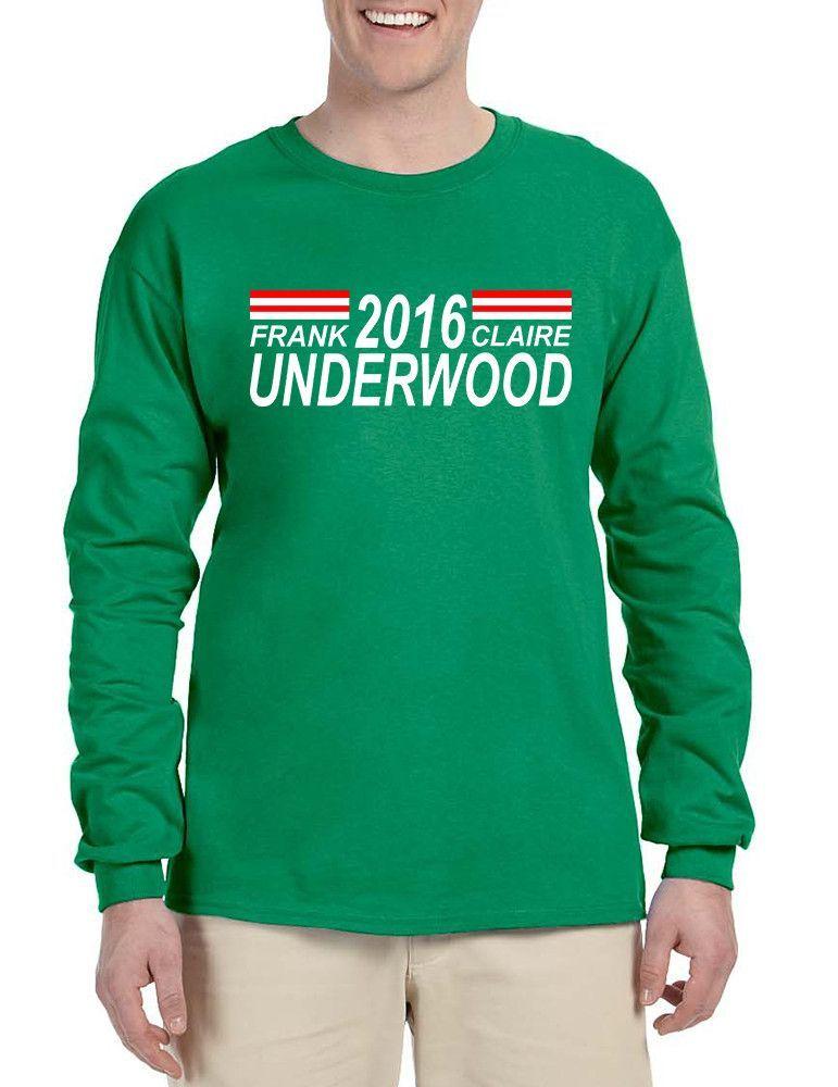 Men's Long Sleeve Frank Claire Underwood 2016 Shirt