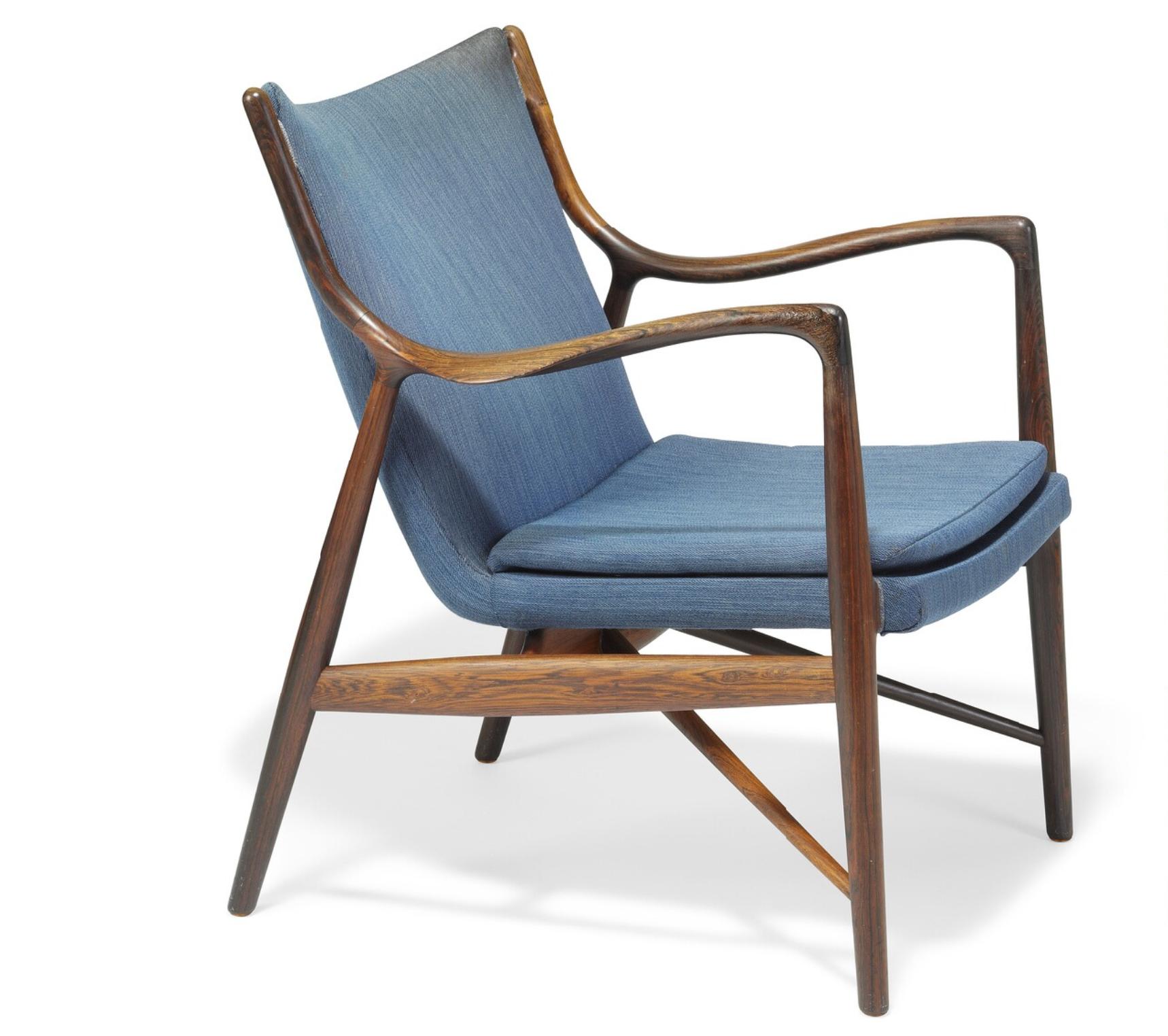 Finn Juhl // Niels Vodder// NV45. A Brazilian Rosewood Easy Chair. Dänische  MöbelModernes MobilarStuhl DesignMöbeldesignDänisches ...