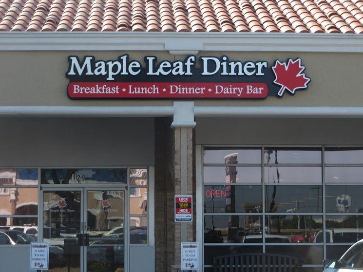 Maple Leaf Diner, a Canadian restaurant with amazing