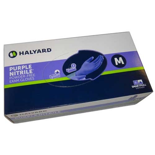 Halyard Purple Nitrile Exam Gloves PowderFree (fka KC500