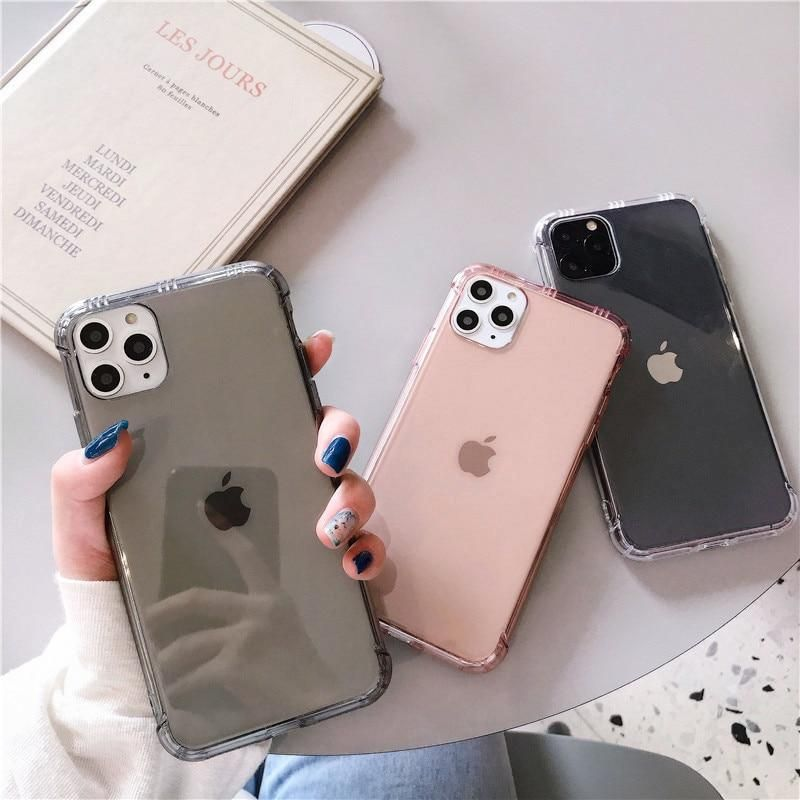 Transparent Cushion Cases - iPhone 11 / Gray