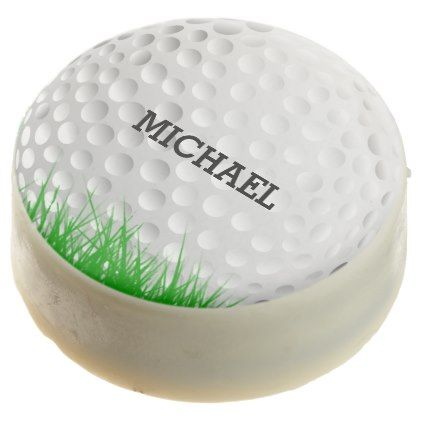 Golf Ball In Grass Chocolate Covered Oreo   Decor Diy Cyo Customize Home
